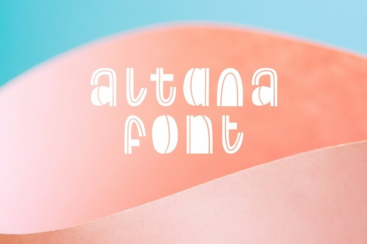 Decorative font. Altana letters. Creative typography