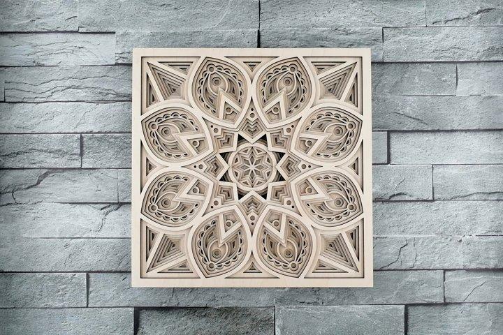 Layered Mandala SVG, Laser cut file, Cricut Mandala