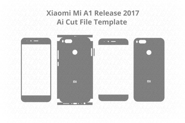Xiaomi Mi A1 Vinyl Skin Vector Cut File Template 2017