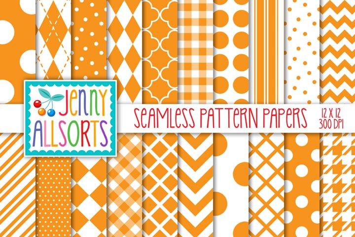 Orange & White Seamless Digital Repeat Geometric