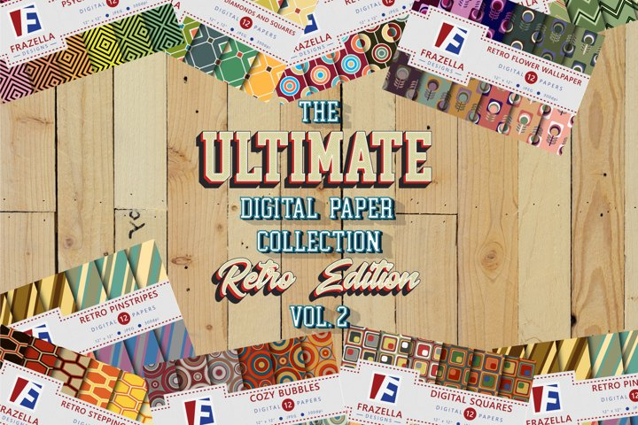 The ULTIMATE Digital Paper Collection Retro Edition Vol. 2.