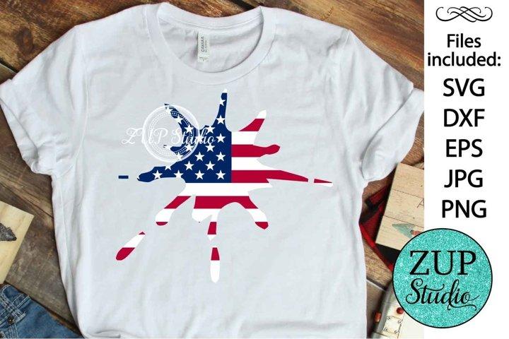 NEW! Splatter American Flag Design Digital Cutting files 507