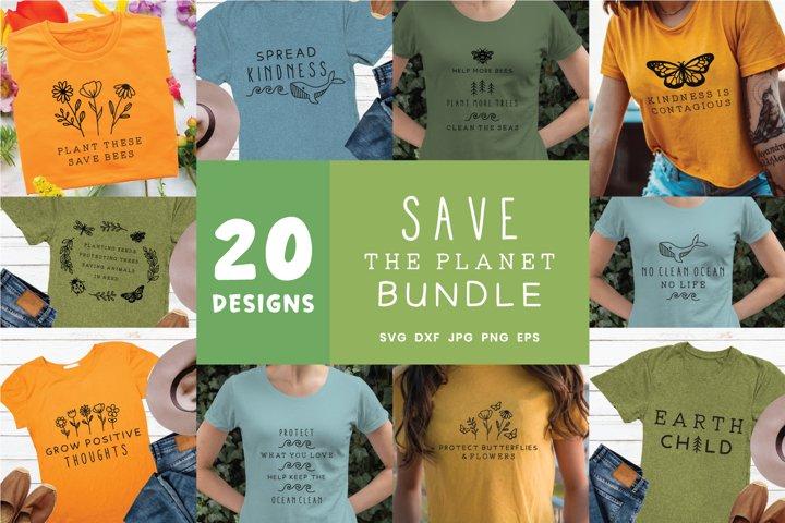 Save the Planet Svg Bundle | Green Svg Bundle file Cricut