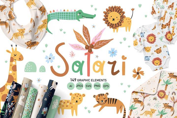Safari - Baby illustration