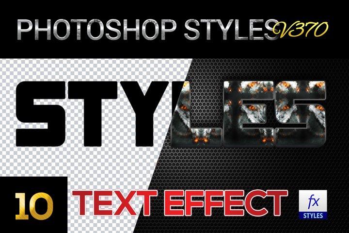 10 creative Unique Photoshop Styles V370