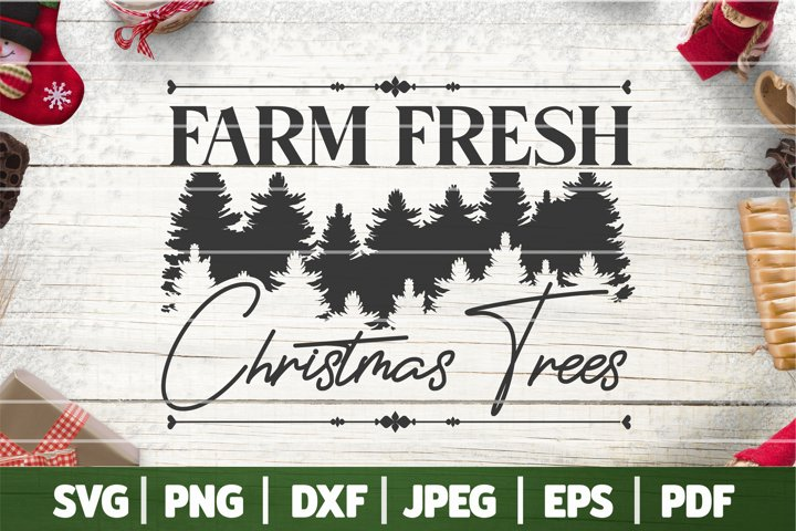 Farm Fresh Christmas Tree SVG, Christmas Tree Farmer SVG