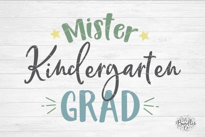 Mister Kindergarten Grad - SVG DXF PNG