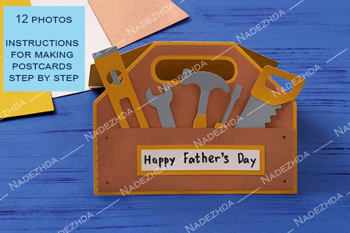 Child makes greeting card for Fathers Day