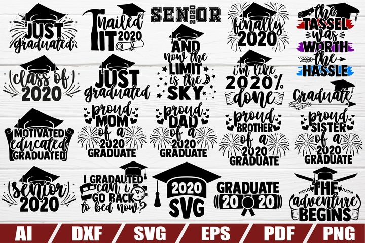 Graduation 2020 Bundle svg - 20 designs - cut file - dxf
