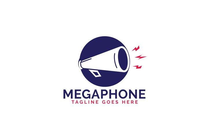Megaphone vector logo design. Concept for marketing agency.