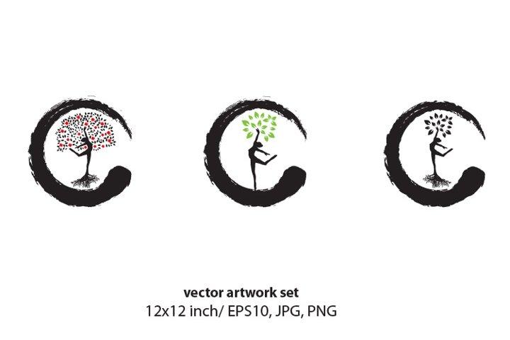 Female Tree - VECTOR ARTWORK SET
