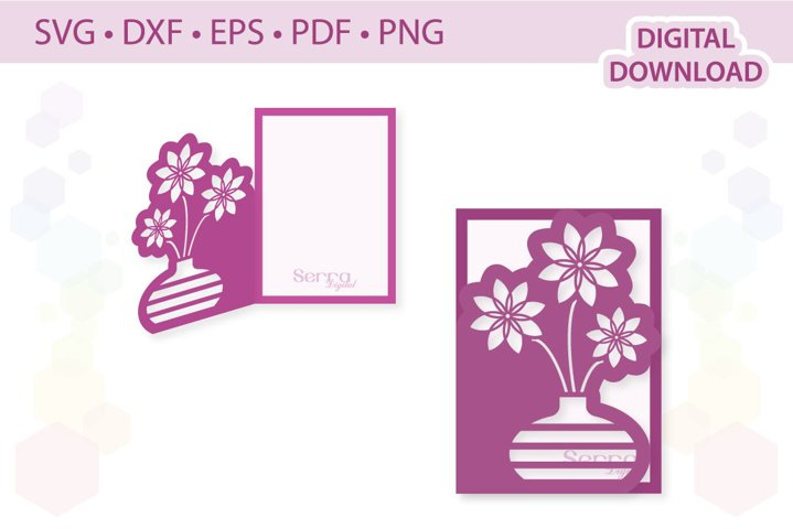 4 x 6 Bunch of flowers card template SVG DXF EPS PDF PNG