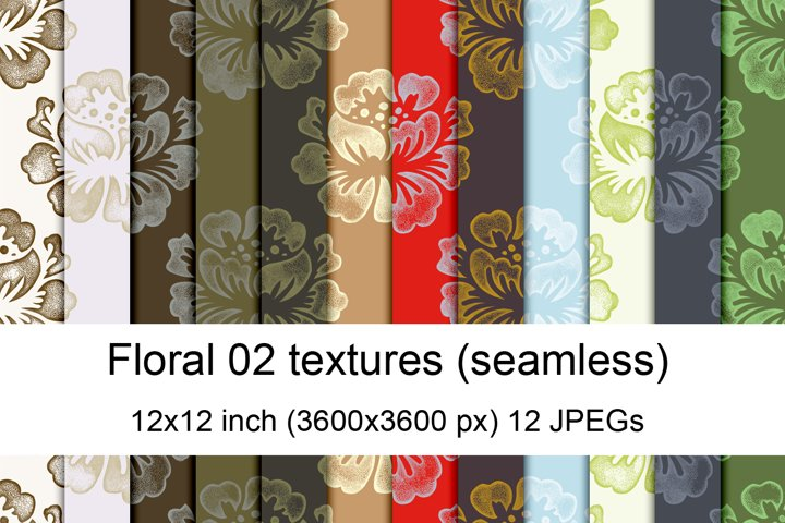 Floral seamless textures