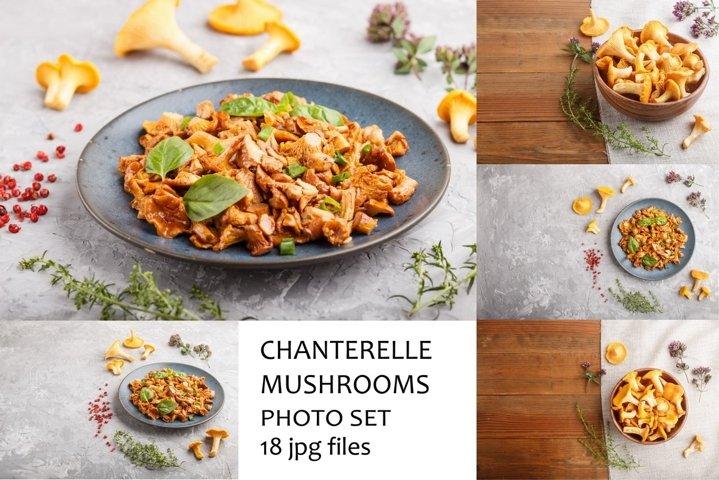 Fried chanterelle mushrooms