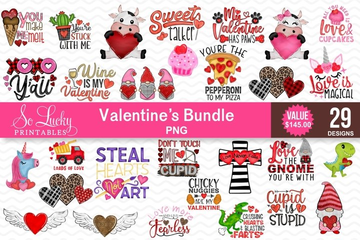 Valentines Bundle - 29 best sellers PNG - Valentines day