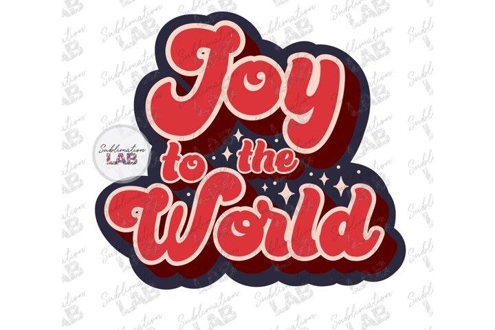 Christmas Retro Joy To The World Sublimation Design Clipart