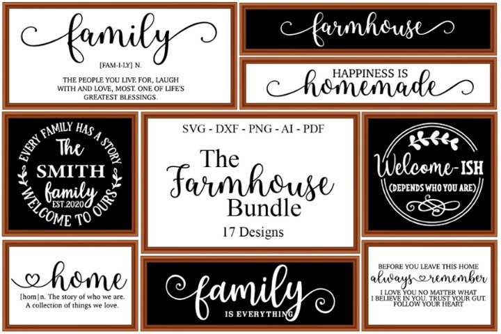 Farmhouse Sign SVG Bundle, Farmhouse Quote, Cut Files