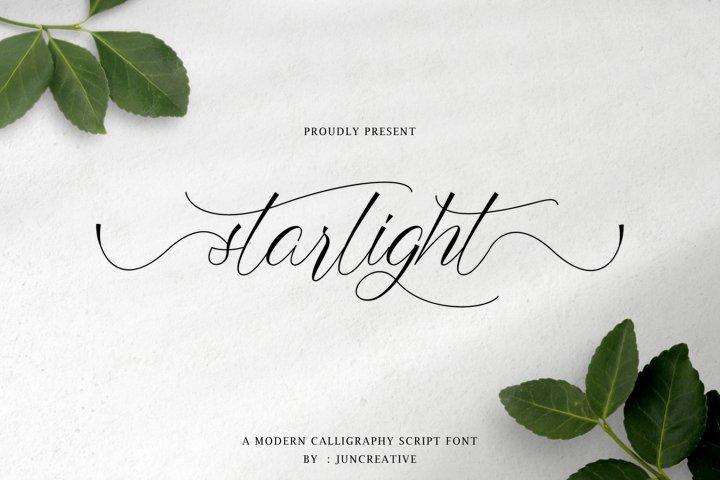 starlight a modern calligraphy script