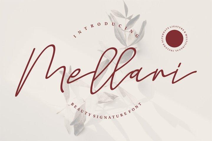 Mellani - Beauty Signature Font