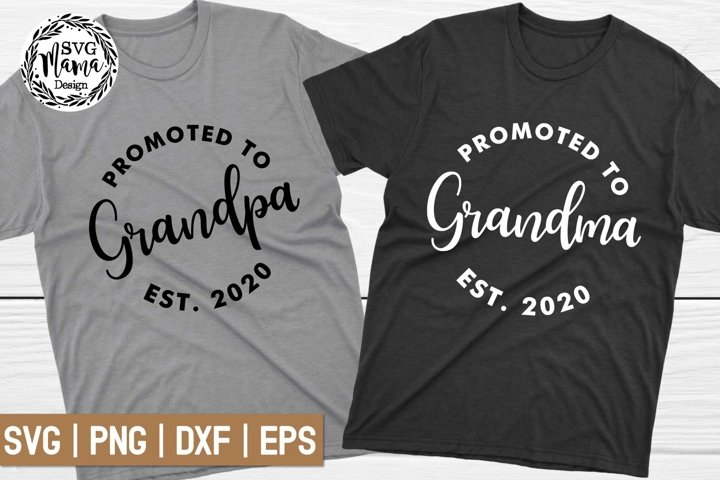 Promoted to Grandpa Svg, Promoted to Grandma Svg