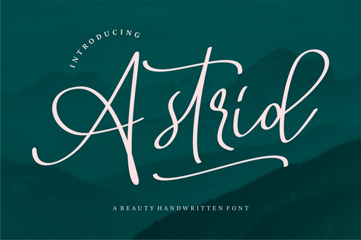 Astrid - A Beauty Handwritten Font