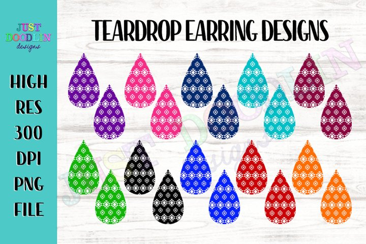 Aztec Teardrop Sublimation Earring Designs