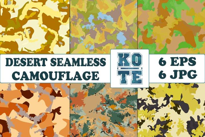 6 Seamless Military Desert Camouflage