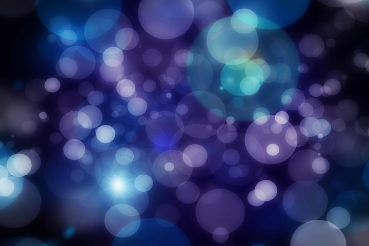15 Bokeh Photoshop Brushes abr. - Scatter & Dynamics example 1