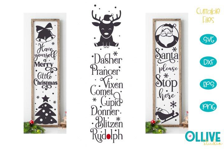 Christmas Porch Sign SVG Mini Bundle
