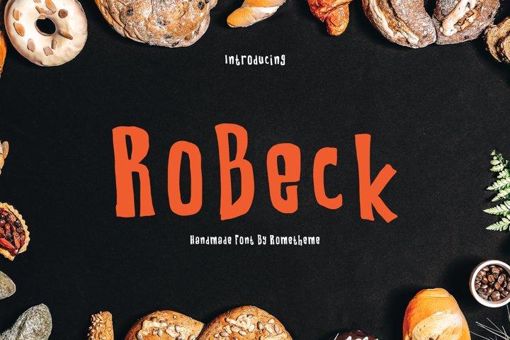 RoBeck - Fun Display Font