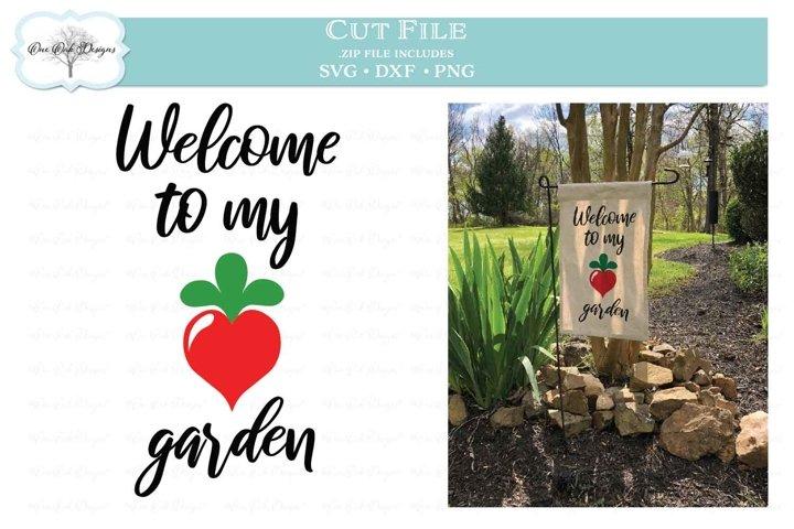 Welcome to my Garden Radish / Heart SVG