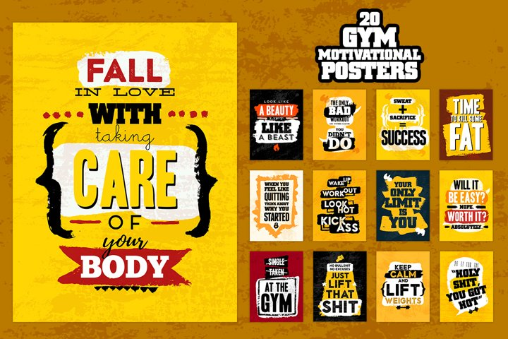20 Fitness Quotes Posters