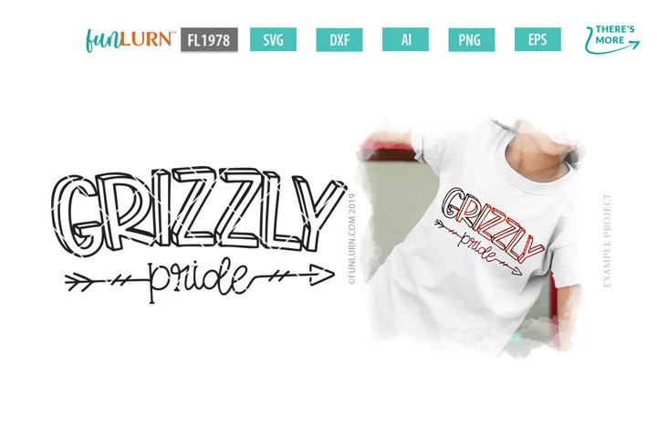Grizzly Pride Team SVG Cut File
