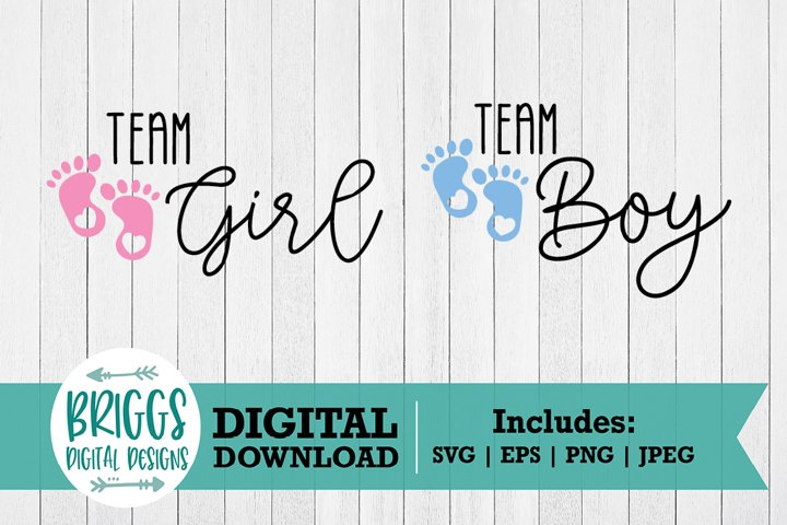 Team Boy / Team Girl SVG | Gender Reveal Cut File