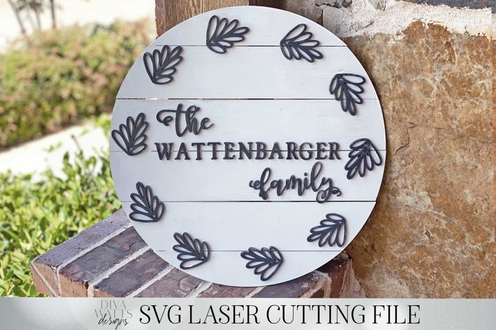 Shiplap Sign | 17-18 Circle Slat Laser Cutting Design | SVG