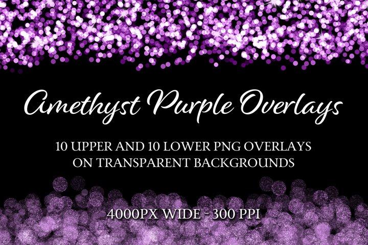 Amethyst Purple Overlays - 10 Upper and 10 Lower Overlays