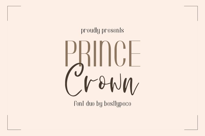 Prince Crown Font Duo