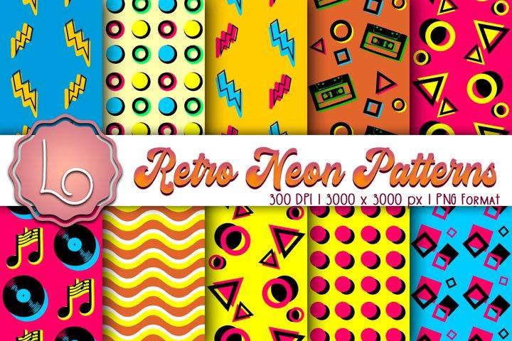 Retro Neon Patterns