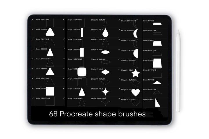 Procreate shape stamps for iPad and iPad Pro . Mega bundle
