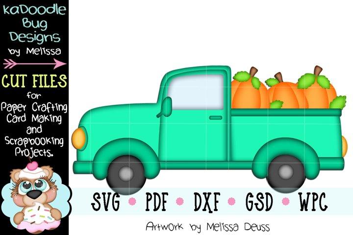 Fall Pumpkin Truck Cut File - SVG PDF DXF GSD WPC