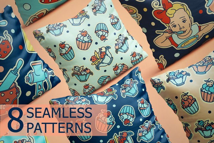 Seamless patterns Kitchen