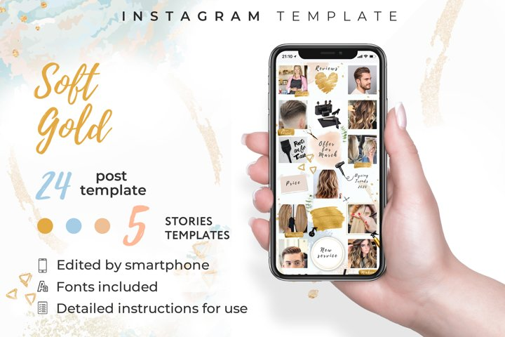 Hair stylist|instagram template kit|canva template|24 post