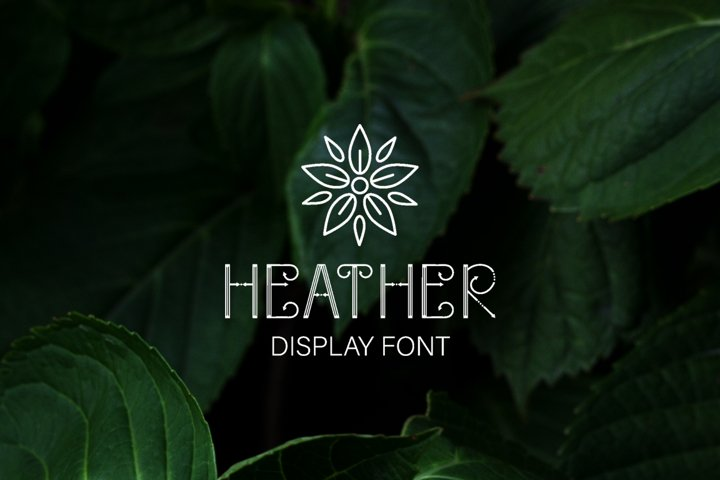 Heather - uppercase font