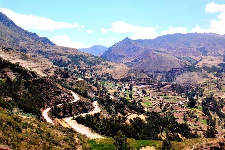 Ancient site of Pisac in Peru