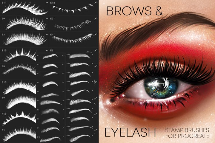 Procreate Eye & Brows brushes Makeup