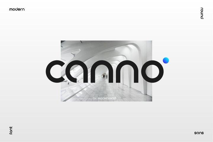 Canno - Modern geometric sans serif
