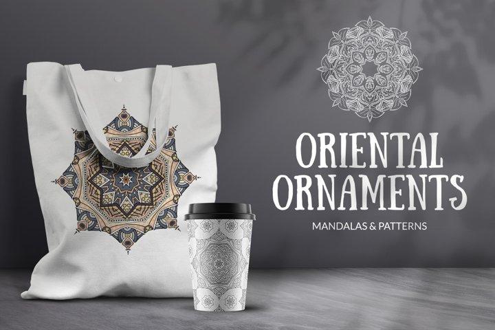 Oriental ornaments. Mandalas and patterns