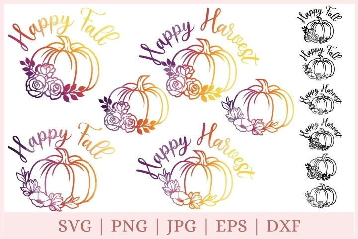 Pumpkin svg, halloween svg, fall svg, autumn svg, svg bundle