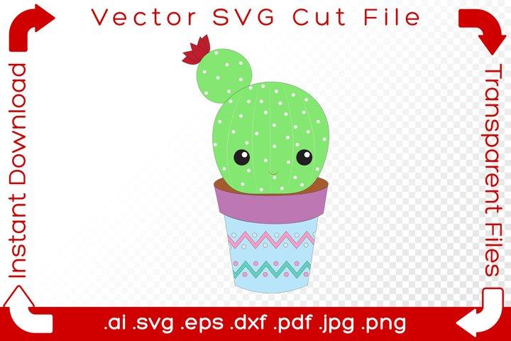 SVG Succulent Cactus Plant - DIY Cartoon Cut File for Makers