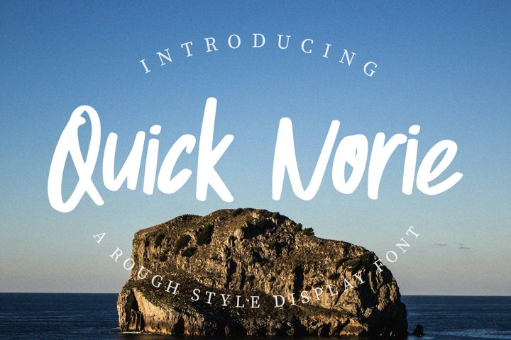 Quick Norie Handbrush Font
